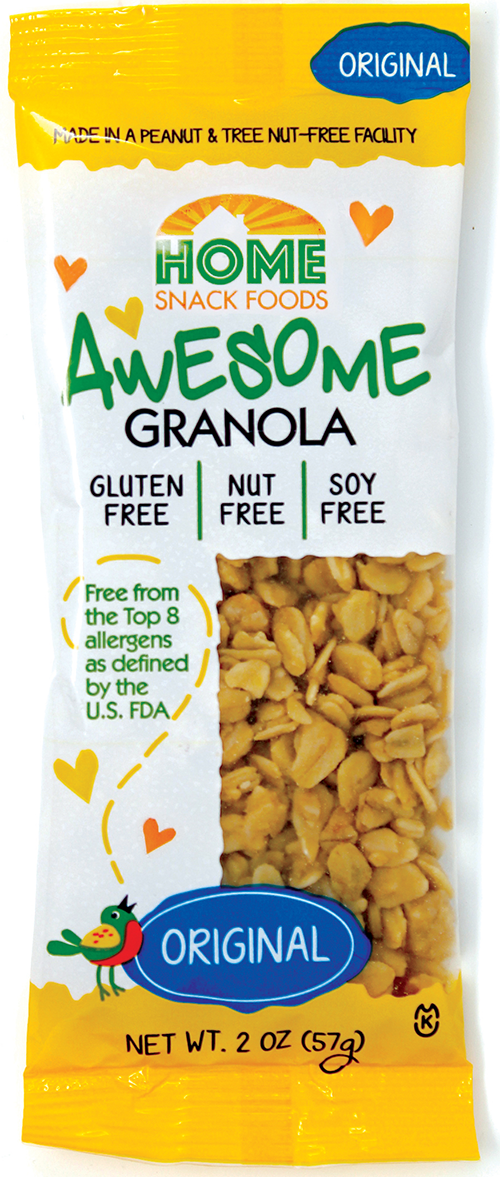 home snack foods awesome granola 20z pouch front