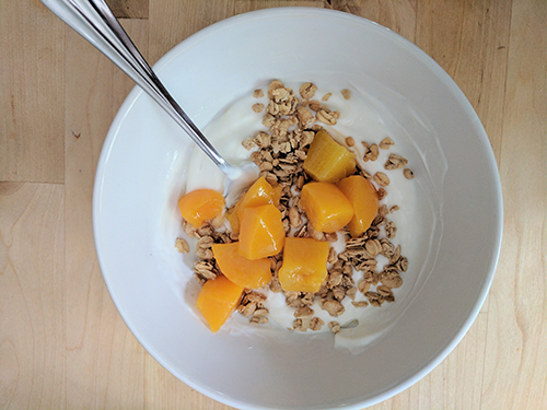 home snack foods awesome granola granola and peaches